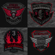 Stealth pilot military patch emblems - 73160316