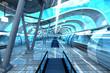 Leinwanddruck Bild - Moderne Ubahn