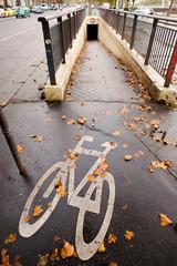 Bike path in Paris