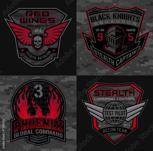 Stealth pilot military patch emblems - 73160316