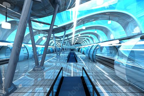 Fotobehang Tunnel Moderne Ubahn