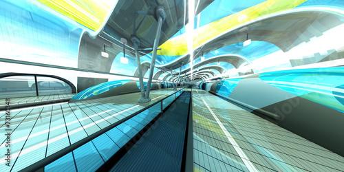 Foto op Aluminium Tunnel Moderne Ubahn