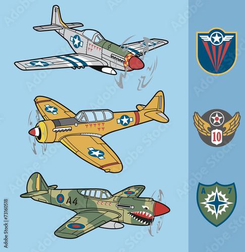 Vintage war fighter planes set 1 - 73160518