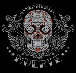 Day of the dead sugar skull graphic