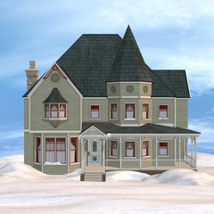 Victorian Winter House