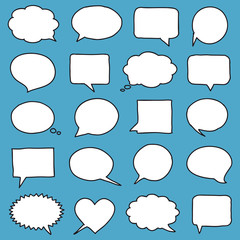Hand-drawn speech bubbles