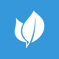 Eco leaf flat  icon