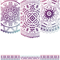 Set of banners with ethnic decorative ornament