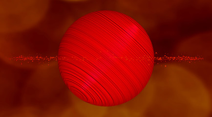 reddish gigantic planet