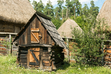 Old Chicken Coop In Romanian Village