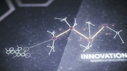 Business innovation and development graph animation