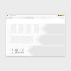 Vector browser design with responsive website