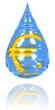 Wassertropfen mit Euro-Symbol