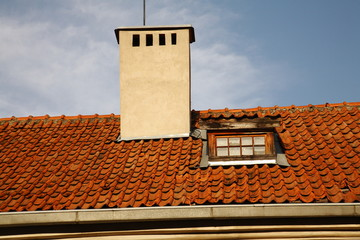 Red-tiled roof