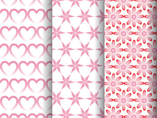 pattern in three different style