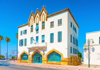 an italian styled old hotel landmark of Kos island in Greece