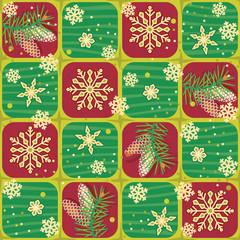 Seamless Christmas, winter or New Year pattern