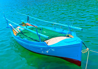 traditional fishing boat at Kalymnos island in Greece