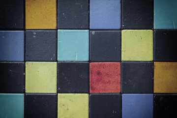 colorful ceramic tile patterns background.
