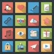 Socia media web flat icons set with longshadow