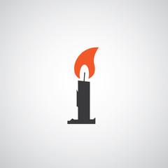 vector candle symbol