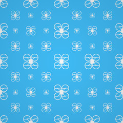 Blue vector background for quadrocopter