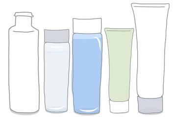 基礎化粧品の容器セット/無地