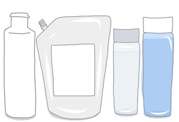 化粧水ボトルと詰め替え容器のセット/無地