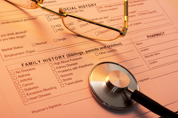 A health insurance application medical information
