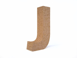 Brick Letter J