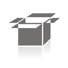 Icono box perspectiva FB reflejo
