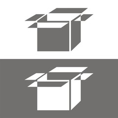 Icono box perspectiva BN