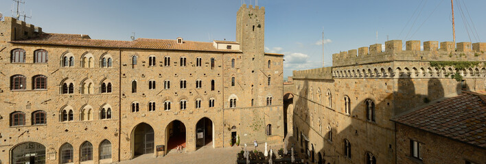 panoramic view of Palazzo Vescovile-Volterra, Tuscany-Italy