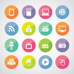 technology symbol set