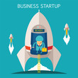 Vector concept of business startup - 73166140