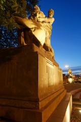 Man defeating lion