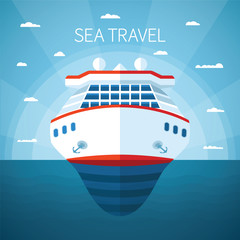 Sea cruise vector concept