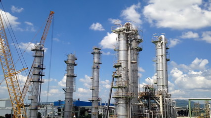 Time lapse video of petroleum industrial factory