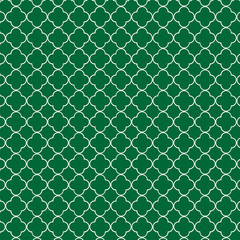 Green quatrefoil pattern