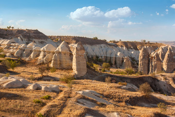 rock beautiful ancient stone landscape in Turkey Capadocia
