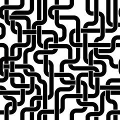 Black lines seamless pattern.