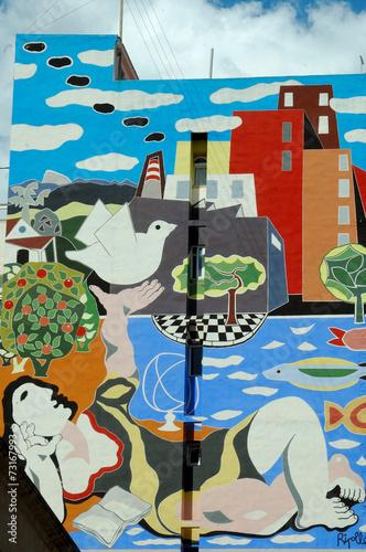 canvas print picture FASSADE IN CASTELLON