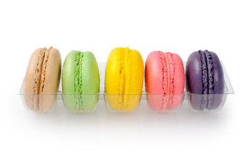 Macarons isolated on white background