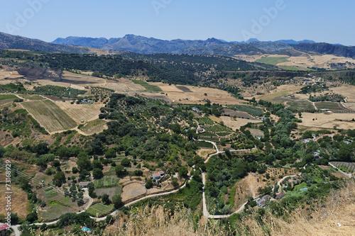 canvas print picture Blick auf die Landschaft rund um Ronda,Spanien