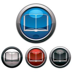 Open book - Vector icon.