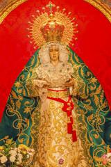 Basilica Mary Le Macarena Statue Collegiata Madrid