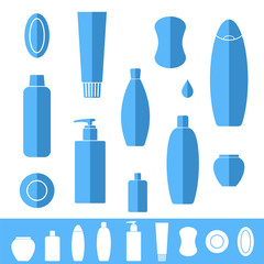 Shampoo. Soap. Icon set