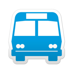 Pegatina simbolo autobus