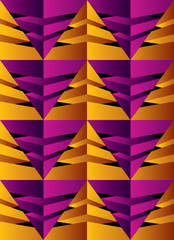 Geometric seamless pattern with pyramids.