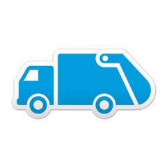 Pegatina simbolo camion de basura